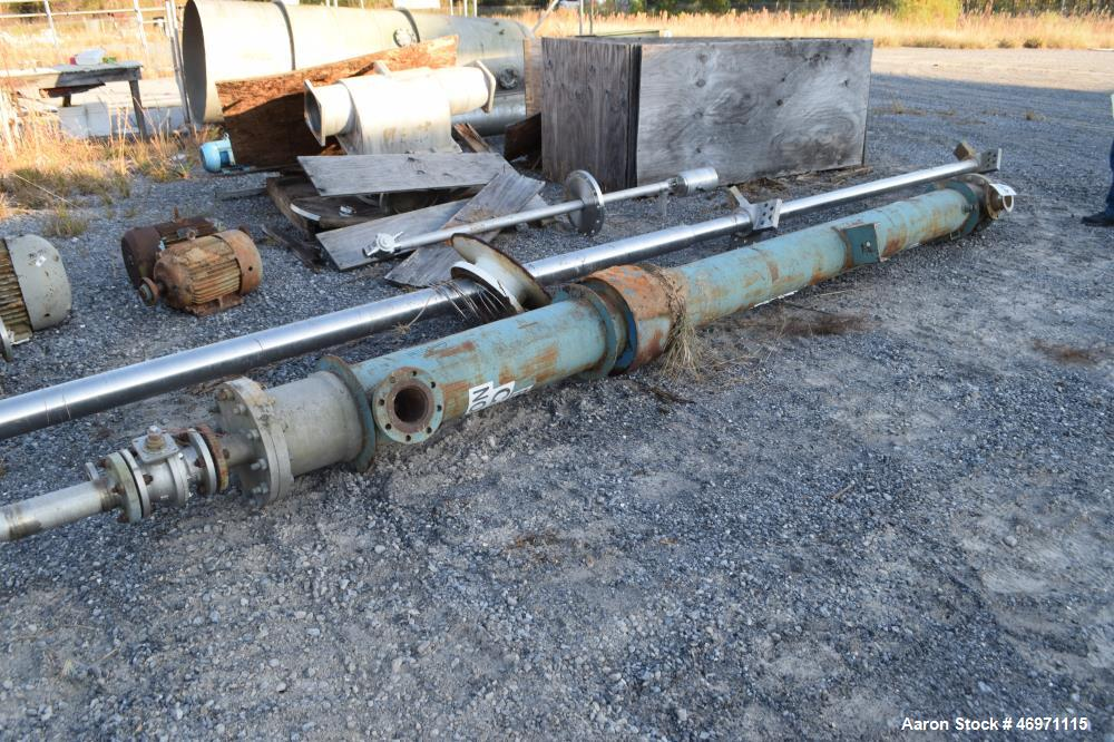 Used- Yula 3 Pass Shell & Tube Heat Exchanger, 90 Square Feet, Model WC-3D-168DS, Horizontal. Carbon steel shell rated 150 p...