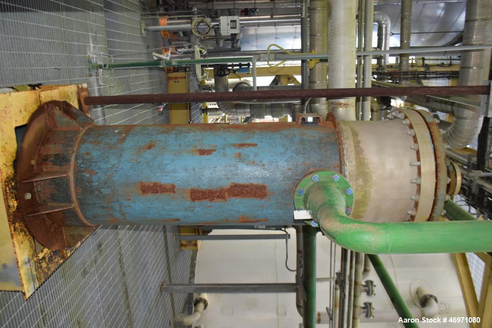 Used- Yula 3 Pass Shell & Tube Heat Exchanger, 503 Square Feet, Model WC-3L-168GS, Horizontal. Carbon steel shell rated 108 ...