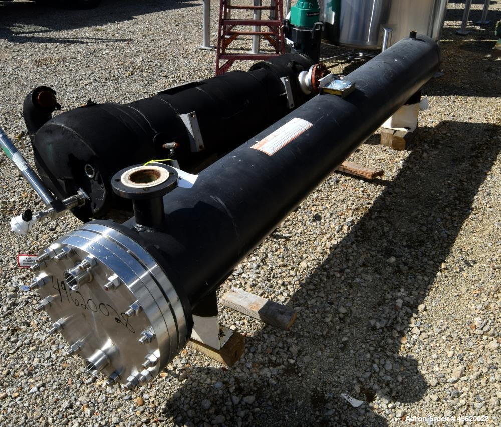 Used- Yula U Tube Heat Exchanger, 137 Square Feet, Model WCV-10F-120BS