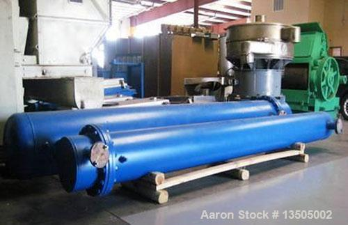 Used-Yula Shell and Tube Heat Exchanger, Model WCV-8F-144AAS. Design shell and tube for 150 psi @ 300 deg F. 412 square foot...