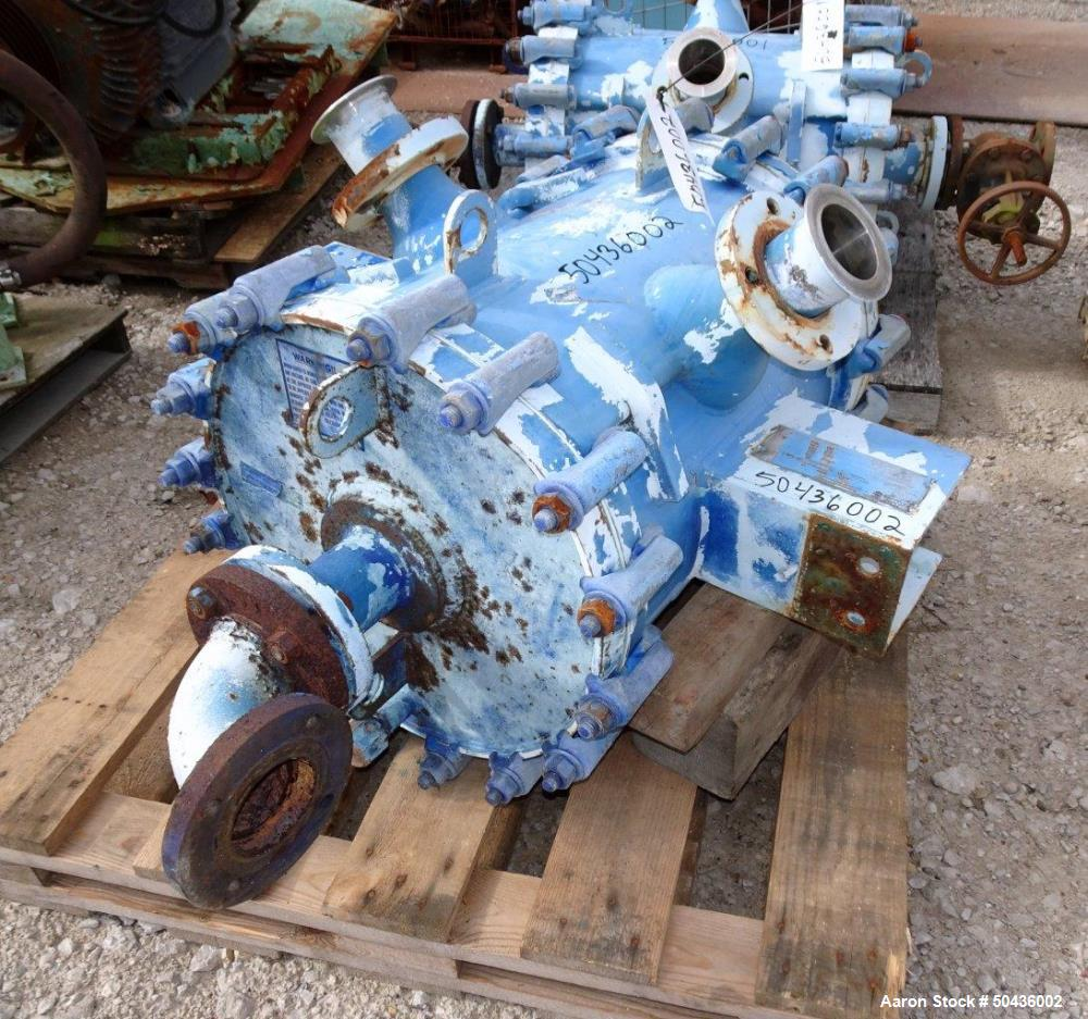Used- Alfa Laval Spiral Heat Exchanger, Type 1-H, 100 Square Feet Area.