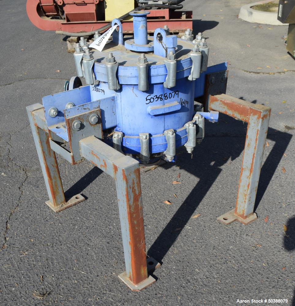Used- Alfa Laval Spiral Heat Exchanger, 50 Square Feet, Model 1H-L-1T