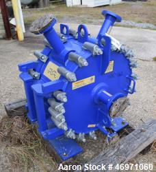 Unused- Alfa Laval Spiral Heat Exchanger, 123 Square Feet, Model 1H-L-1T.