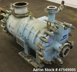 Used- Alfa Laval Thermal Horizontal Spiral Heat Exchanger, Model 3-H, 50 Square