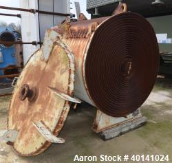 Used- Carbon Steel American Heat Reclaiming Horizontal Spiral Heat Exchanger, Type 1H