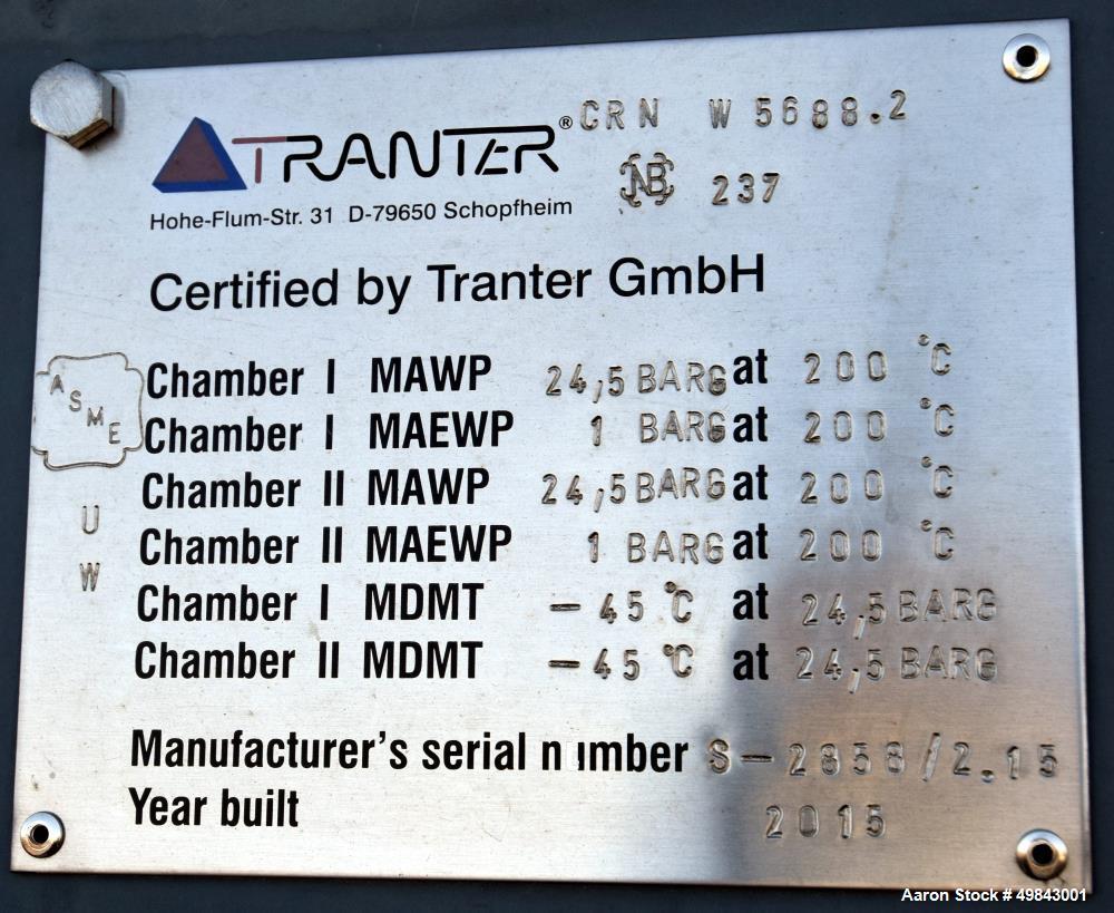 Unused- Tranter Spiral Heat Exchanger