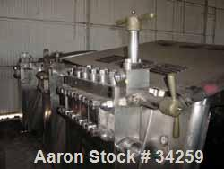 Used- Gaulin Homogenizer, Model 5000MF75-1.8PS, Stainless Steel. Capacity 5000 gallons per hour. Operating pressure 1800 psi...