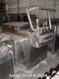 Used- Cherry Burrell Homogenizer, Model SS7500-TGR-HD6. Set to operate at a flow rate of 3,000 gallons per hour at an operat...