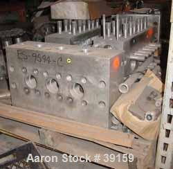 """Used- Cherry Burrell Model SS7500TGR-HD6 Homogenizer Cylinder Block. Stainless steel ball style valves. Requires 2-1/8"""" diam..."""