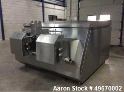Used- APV Gaulin Homogenizer, Type 200-3.0P. Approximately 7,936 gallon (30000 liter) per hour at 3,150 PSI (210 bar). Drive...