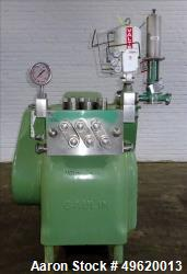 Used- Gaulin Homogenizer, Model 160 M6 10 TBS, Stainless Steel. Capacity 160 gallons per hour, 10000 psi maximum. Single sta...
