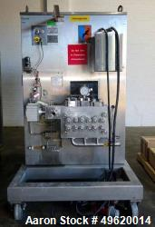 Used- Niro Soavi Homogenizer, Model NS3037-H, Stainless Steel. Approximate capacities 3170 gallons per hour at 1500 psi to 2...