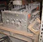 Used- Cherry Burrell Model SS7500TGR-HD6 Homogenizer Cylinder Block. Stainless steel ball style valves. Requires 2-1/8