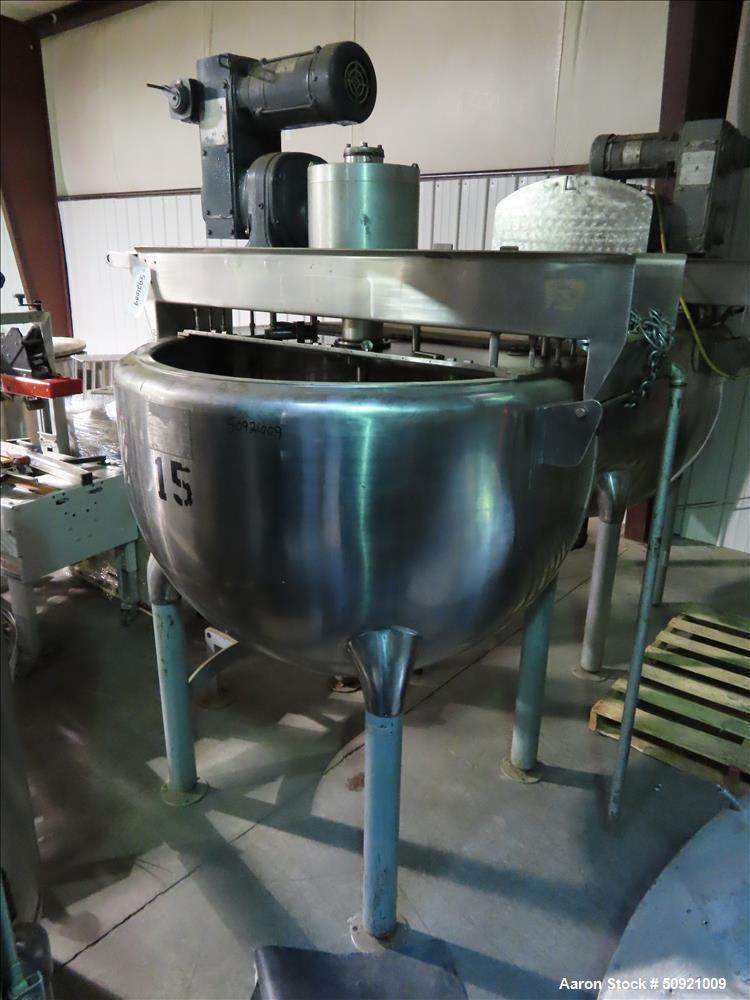 Used- Hamilton Double Motion Kettle, 150 Gallon