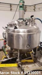 Used-RAS Process Equipment Approximately 150 Gallon Stainless Steel Jacketed Pre
