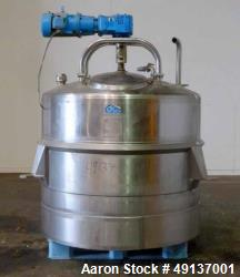 Used- DCI Scraper Agitated Mixing Kettle, 400 Gallon, Stainless Steel, Vertical.