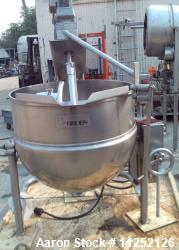 Used-Groen Model D/INA/2-80, 80 Gallon Scrape Surface Agitated Kettle
