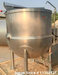Used-JC Pardo & Sons (Cleveland) 300 Gallon Scrape Surface Agitated Kettle