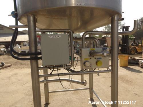 Used- Tank, 1,300 Gallon Sanitary Stainless Processing Vessel