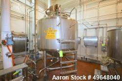 Used-2004 Feldmeier 1,000 Gal. Stainless Steel Processor, Serial # E-160-04, Jacket MAWP 100 PSI @ 175 F, Min. Design Metal ...
