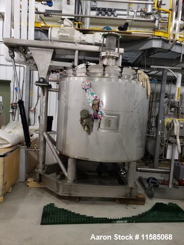 Used- Lee Industries Approximately Mixing Vacuum Kettle
