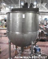 Used- Groen Jacketed Mix Kettle, 500 Gallon