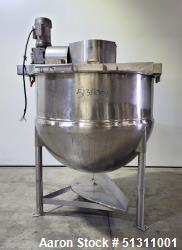 Used- Lee Industries 500 Gallon 304 Stainless Steel Kettle