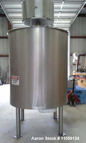 Used- 500 Gallon Lee Sanitary Jacketed 316 Stainless Steel Double Motion Mix Tank/Kettle. Has Double motion scraping agitato...