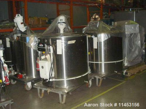 """Used-Electrically Heated Kettle, 150 gallon, 316 stainless steel, vertical.  Approximately 42"""" straight side.  Flat top with..."""