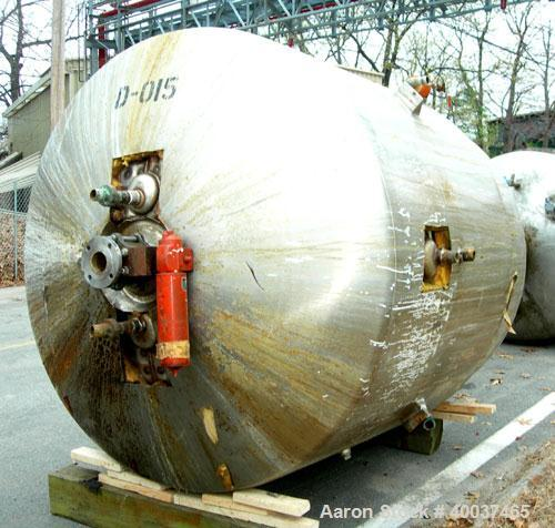 Used- Kettle,1400 gallon, stainless steel, vertical. 6' diameter x 6' straight side, dished top and bottom. Dimple jacketed,...
