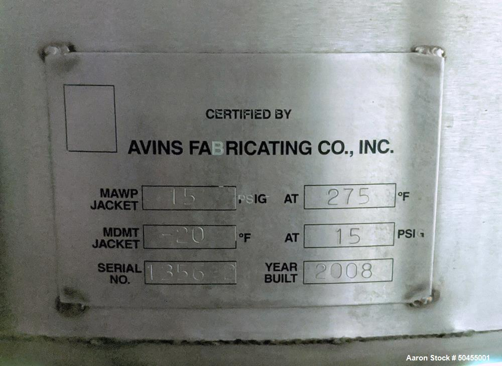 Used- GOE / AVINS 100 Gallon Self Contained Scraper Agitated Mixing Kettle