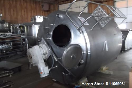 Used- 1,000 Gallon Stainless Steel Cherry Burrell Insulated Mix Tank, Model CB 85-90