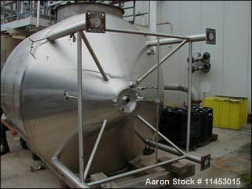 Unused-Used: 1500 gallon DCI kettle, 304 stainless steel construction. 7' diameter x 5' straight side, dished top, cone bott...