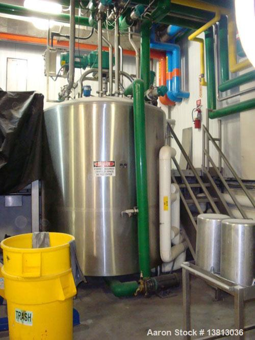 "Used- DCI Processor/Kettle, 750 Gallon, 316 Stainless Steel, Vertical. 65"" diameter x 67-1/2"" staraight side, dished top, co..."