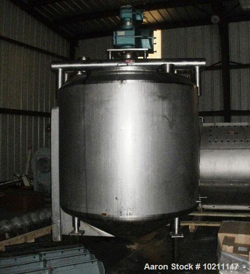 "Used-Feldmeier Kettle, Approximately 750 Gallons, 316 stainless steel, vertical.  Approximately 66"" diameter.  Flat top with..."