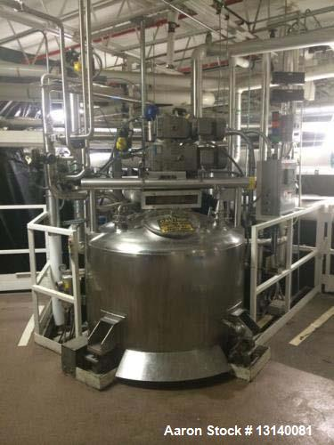 "Used- Feldmeier, (approximately) 200 Gallon, 316L Stainless Steel, Vertical Insulated Thermomixer. 48"" diameter x 36"" straig..."