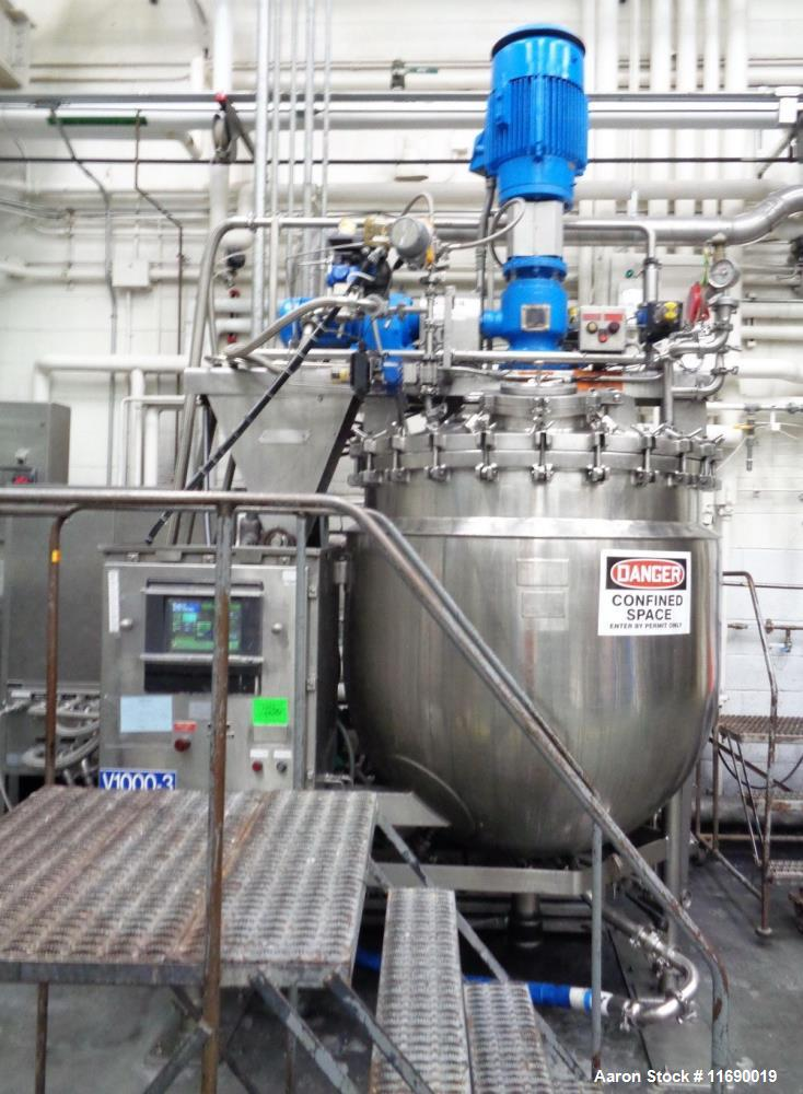 """Used- Greerco/Gifford Wood Triple Motion """"Agi-Mix"""" Kettle/Reactor 1,000 Liter (2"""