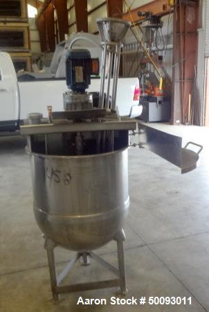 Used- Groen Twin Agitated Kettle, Model RA-50, 50 Gallon