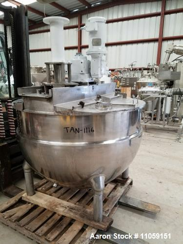Used- 250 Gallon Groen Jacketed Mixing Kettle, Model NEM-250.