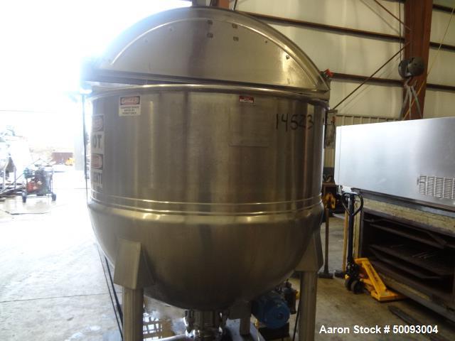 Used- Hamilton Twin Agitated Kettle, Model 300 SA, 300 Gallon