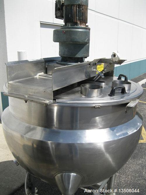 "Used-Hamilton SA 150 Single Motion Scraped Surface Kettle, 150 Gallon, (missing scraper blades).  Approximately 48"" diameter..."