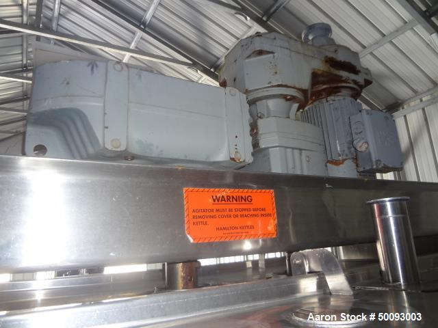 Used- Hamilton Twin Agitated Kettle, Model 300 SA, 300 Gallon, Stainless Steel