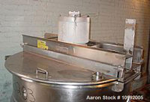 Unused-Used: Hamilton model SA double motion agitated, jacketed 150 gallon kettle. Jacket psi is 100 at 328 deg F. Bolt on s...