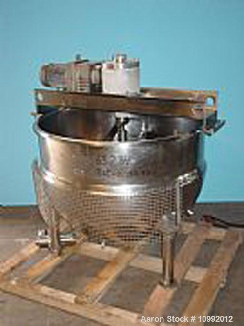 Used-250 Gallon Hamilton Model SA. Double motion sweep agitation with scrapers and turbine style blades. Jacket psi 125 at 3...