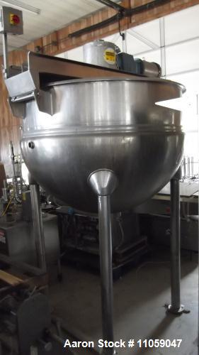 Used-300 Gallon Hamilton Jacketed Mix Kettle, Model SA