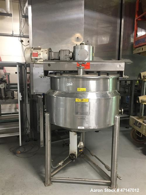 Used- Hamilton 100 Gallon Stainless Steel Cooking and Mixing Kettle