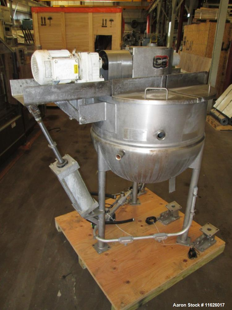 Used- Lee 100 Gallon Stainless Steel Jacketed Kettle, Model 100D9MT