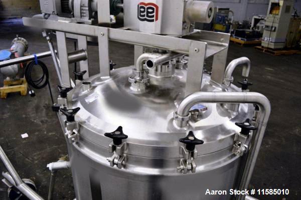 "Used-150 Gallon Lee Double Motion Vacuum Kettle, Model 150D9MT.  316L Stainless steel construction, 42"" diameter x 34"" deep,..."