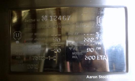 Used- LEE Industries Twin Agitated Kettle, 300 ETA, 300 Gallon