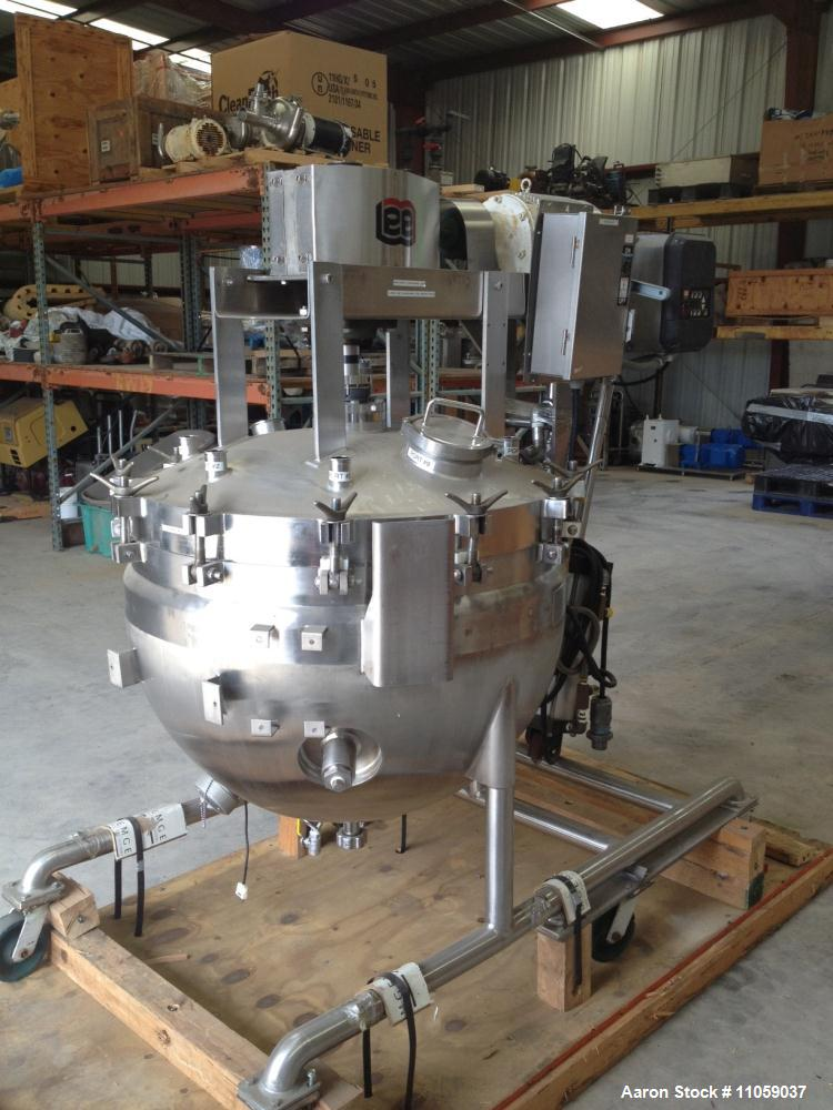 Used- 80 Gallon Double Motion Vacuum Mix Kettle/Vessel, Model 300LD9MT